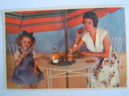 STABILAC Maman Et Fillette Buvant Du Lait Et Cacao Moeder En Meisje Drinken Melk Onder Parasol Publicité Reclame - Publicité