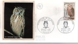 FDC - Enveloppe 1er Jour - GRAND DUC - 15 AVRIL 1972 - PARIS - FDC