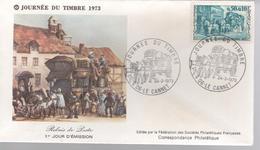 JOURNEE DU TIMBRE - 24 . 3 . 1973 - LE CANNET - 1970-1979