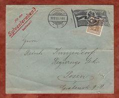 Brief, Germania, Flaggenstempel Braunschweig, Nach Posen 1903 (89469) - Germany