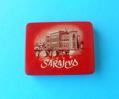 SARAJEVO - Bosnia Old Cigarettes Tin Box * Boîte En Métal Vide Pour Les Cigarettes Cigarette Tobacco - Boites à Tabac Vides