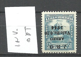VENEZUELA 1947 Michel 462 K Inverted OPT MNH Signed - Venezuela
