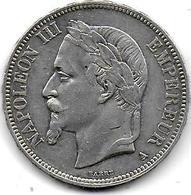 5 Fr Napoléon III  1869 A - France