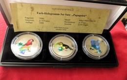 Congo 3 X 10 Francs 2000 Parrots - Congo (República Democrática 1998)