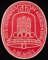 F-EX6408 GERMANY ALEMANIA DEUTSCHLAND CINDERELLA 1936 OLYMPIC BERLIN FRENCH LIGERAS MANCH - Allemagne