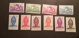 Togo Yvert 196-198, 201-207* - Unused Stamps