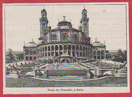 Palais Du Trocadéro. Paris. Illustration P De Laubadère. Larousse 1931. - Documenti Storici