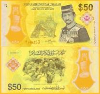 Brunei 50 Ringgit P-39 2017 Commemorative UNC Polymer Banknote - Brunei