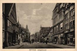 Detmold, Langestrasse, Geschäfte, Ca. 20er/30er Jahre - Detmold