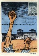 20é Anniversaire Libération Des Camps 21 Mars 64 Paris Sur Carte Postale - FDC