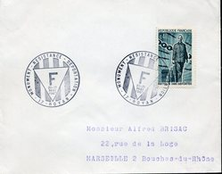 ROYAN 20-21 Mai 1967 MONUMENT RESISTANCE DEPORTATION Nazisme Guerre Camp De Concentration - Storia Postale