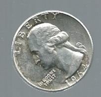 USA 1/4 Dollar 1964 D Silver  - Pieb22408 - Federal Issues