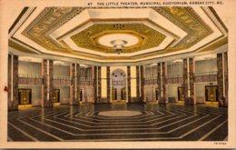 Kansas Kansas City Municipal Auditorium The Litle Theater Curteich - Kansas City – Kansas