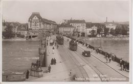 CPA Basel - Mittlere Rheinbrücke Gegen Greifengasse (animation Avec Tram) - BS Bâle-Ville