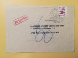 1976 BUSTA GERMANIA DEUTSCHE BOLLO INCIDENTI PREVENTION ACCIDENT ANNULLO BAD BRUCKENAU OBLITERE' GERMANY - [7] Repubblica Federale