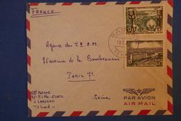 240 TCHAD LETTRE1960 POUR T.P.O.M  DROIT AFRICAIN DU TRAVAIL PARIS .ASSEZ RARE AFRANCHISSEMENT PLAISANT - Chad (1960-...)