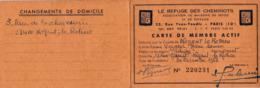 NOGENT LE ROTROU CARTE DE MEMBRE LE REFUGE DES CHEMINOTS AVEC VIGNETTES DE 1968 A 2000 - Transport