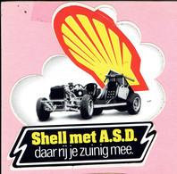 Sticker - Shell Met A.S.D. Daar Rij Je Zuinig Mee - Stickers