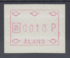 Finnland Aaland 1989 FRAMA-ATM Ornamente, Papier Phosphoresz.  Mi.-Nr. 3 Y  ** - Ålandinseln