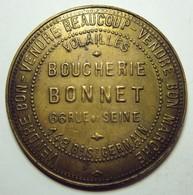 Jeton Publicitaire Grand Module - Boucherie BONNET à PARIS - Monetari / Di Necessità