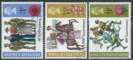 1971 GRAN BRETAGNA USATO ANNIVERSARI BRITANNICI - RC5-10 - 1952-.... (Elisabetta II)