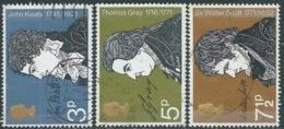 1971 GRAN BRETAGNA USATO ANNIVERSARI LETTERARI - RC5-10 - 1952-.... (Elisabetta II)