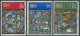 1971 GRAN BRETAGNA USATO NATALE VETRATE CATTEDRALE DI CANTERBURY - RC5-10 - 1952-.... (Elisabetta II)