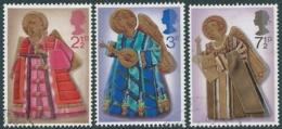 1972 GRAN BRETAGNA USATO NATALE ANGELI MUSICANTI - RC5-3 - 1952-.... (Elisabetta II)