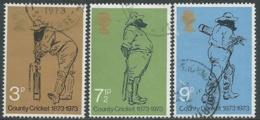 1973 GRAN BRETAGNA USATO COUNTRY CRICKET - RC5-7 - 1952-.... (Elisabetta II)