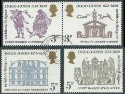 1973 GRAN BRETAGNA USATO INIGO JONES - RC5-4 - 1952-.... (Elisabetta II)