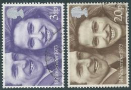1973 GRAN BRETAGNA USATO NOZZE PRINCIPESSA ANNA - RC5-4 - 1952-.... (Elisabetta II)