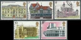 1975 GRAN BRETAGNA USATO ANNO EUROPEO PATRIMONIO ARCHITETTONICO - RC5-6 - 1952-.... (Elisabetta II)