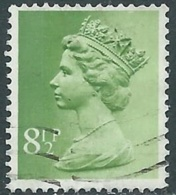 1975 GRAN BRETAGNA USATO EFFIGIE REGINA ELISABETTA II 8 1/2 P - RC2-8 - 1952-.... (Elisabetta II)