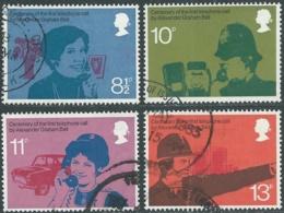 1976 GRAN BRETAGNA USATO TELEFONO GRAHAM BELL - RC5-6 - 1952-.... (Elisabetta II)