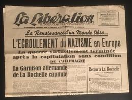 Journal Original 8 Mai 1945 - La Liberation D'Aunis Et Saintonge - Autres
