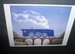 Carte Postale - Illustration Folon - Locomotive - 1978 - Folon
