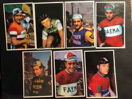 7 Cartes / Cards - Velo Chewing Gum -  Cyclists - Cyclisme - Ciclismo -wielrennen - Wielrennen