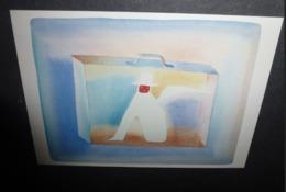 Carte Postale - Illustration Folon - Le Théâtre - 1982 (valise) - Folon