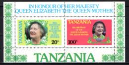 TANZANIA - 1985 - Queen Mother, 85th Birthday - Souvenir Sheet - MNH - Tanzania (1964-...)