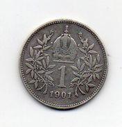 Austria - 1901 - 1 Corona - Francesco Giuseppe - Argento - Vedi Foto - (MW1013) - Austria