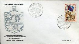 PAPEETE 10 Juil 64 FDC Ralliement De La Polynésie à La France Libre Guerre 40 Nazisme Résistance - Tahiti (1882-1915)