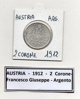 Austria - 1912 - 2 Corone - Francesco Giuseppe - Argento - (MW442) - Austria