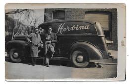Herve Camion Hervina Photo Carte - Personas Anónimos