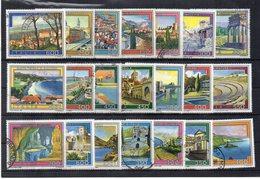 Italia  - Repubblica - Anni Vari - Lotto 21 Francobolli Serie Turistica - Usati - Vedi Foto - (FDC19292) - Lotti E Collezioni