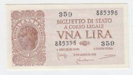 ITALY 1 Lire 1944 AUNC+ Pick 29b 29 B - Italia – 1 Lira