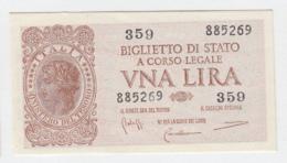 ITALY 1 Lire 1944 AUNC+ Pick 29b 29 B - [ 1] …-1946: Königreich