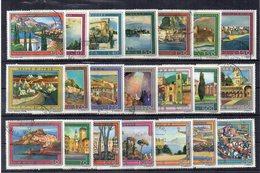 Italia  - Repubblica - Anni Vari - Lotto 21 Francobolli Serie Turistica - Usati - Vedi Foto - (FDC19293) - Lotti E Collezioni