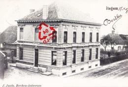 ITEGEM - Carte à Circulé En 1908 - Antwerpen