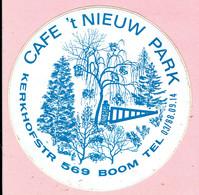 Sticker - CAFE 't NIEUW PARK - Kerkhofstraat 569 BOOM - Stickers