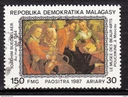 Madagascar, Poule, Poulet, Coq, Rooster, Hen, Pain, Bread, Art, Peinture, Painting, Marché, Alimentation, Pouchkine - Galline & Gallinaceo